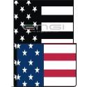 DOUBLE FACE Tubolare scaldacollo Bandiera USA CLASSICA